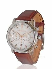 NEW MENS MICHAEL KORS (MK8372) LANDAULET CHRONOGRAPH BROWN LEATHER STRAP WATCH