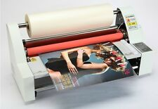 "110V/220V 19"" Laminator Hot Double Side Roll Laminating Machine 4 rollers"