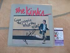 JIM RODFORD SIGNED THE KINKS GIVE THE PEOPLE WHAT THEY WANT LP ALBUM JSA COA