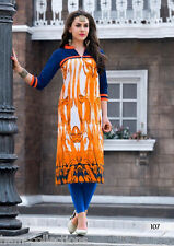 Designer Heavy Cotton Printed Summer Kurti / Kurta / Tunic in XL Size