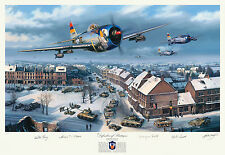 Nick Trudgian, WWII, Battle of the Bulge 8 signature art print! 101st Airborne