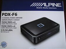 Alpine PDX-F6 4 Channel 150W RMS x 4 Car Amplifier Class-D Amplifier