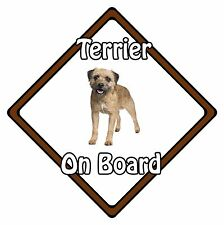 Non Personalised Dog On Board Car Safety Sign – Border Terrier On Board