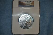 2011, America the Beautiful 5 oz, Glacier, NGC, Gem Uncirculated, Early Releases