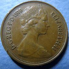 *UK/GREAT BRITAIN, Vintage 1979  2 NEW PENCE COIN, Extra Fine Circulated Coin
