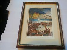 John Speirs Hand Signed Lithographs Vintage 1979 Hong Kong Franklin Gallery