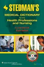 Stedman's Medical Dictionary Revised Illustrated 6th Edition 2007 Hardcover + CD