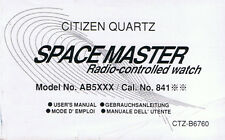 Citizen Quarz Space Master Radio Controll Watch Beschreibung Instruction I053