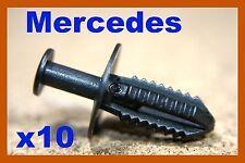 10 Mercedes Benz Parachoques Fender Panel recorte Clips de plástico a presión clip de sujeción
