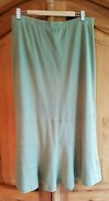 Peruvian Connection skirt Pima Cotton Green Long XL Maxi fit flare