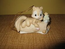 1992 Precious Moments *I'm Nuts About You*Ornament Squirrel on Log*Christmas
