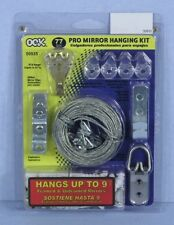 * OOK 77-Piece Pro 50# Mirror / Picture Hanging Kit 50935 Hangs 9 Mirrors NEW *