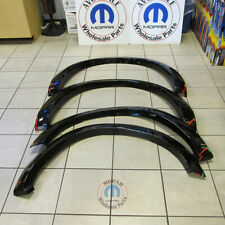DODGE RAM 1500 PAINTED Gloss Black Molded Wheel Fender Flares NEW OEM MOPAR