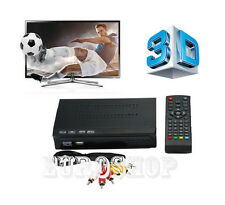 DECODER DVB-T2 DIGITALE TERRESTRE 3D FULL HD 1080 USB TV USCITA RCA HDMI NEW