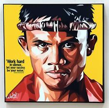 Buakaw Thai boxing canvas quote wall decals photo painting pop art poster