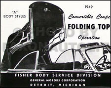 1949 Olds Pontiac Convertible Top Owners Manual Folding Operation Oldsmobile 49