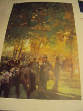 "Bernie Fuchs original lithograph "" The Winners Circle "" limited edition 128/500"