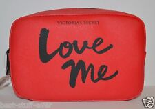 NEW VICTORIA'S SECRET RED LOVE ME MAKEUP COSMETIC CASE BAG CLUTCH POUCH TRAVEL