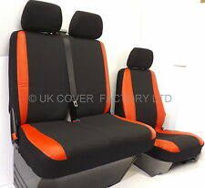VW CRAFTER  VAN SEAT COVERS MADE TO MEASURE RED  SPORTS TRIM P50RD