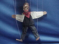 Vintage Black Slave or Farmer Marionette Puppet Hand Made USED