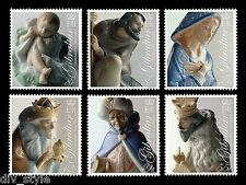Christmas set of 6 stamps mnh Gibraltar 2007 Porcelain Nativity Figurines