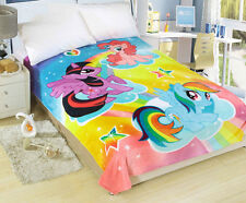 150*200cm My Little Pony Soft Silky Throws Flannel Blanket Bedding Rug Cute Gift