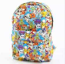 Pokemon GO Character Sublimation Backpack School Book Bag NEW