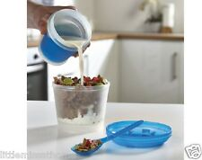FREEZE BREAKFAST CONTAINER FRUIT YOGURT MILK CREAM LIQUIDS CEREAL LUNCH BOX COLD