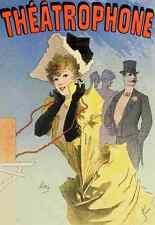 A4 photo CHERET Jules les affiches illustrees 1896 THEATROPHONE imprimé Poster