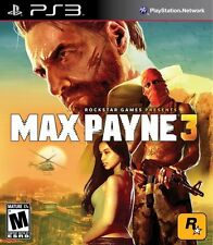 PS3 Max Payne 3 Video Game Rated M Ages 17+ NEW