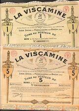 DECO =  2 titres: LA VISCAMINE PONTCHARRA-SUR-BREDA (ISERE 38) (L)