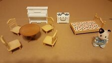 Calico Critters Dollhouse Furniture & Critter lot.