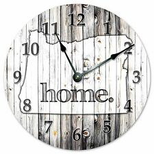 "OREGON RUSTIC HOME STATE CLOCK - Large 10.5"" Wall Clock - 2247"