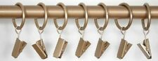 Curtain Rings With Clips for 19mm Poles in GOLD *Bargain pack of 6 for £1.99*