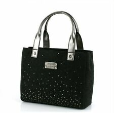 NWT Kate Spade Frosted Felt Quinn Tote Bag Purse Charcoal Gray Grey Rhinestones