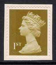 GB 2009 sg U2949 1st Gold MCIL Missing 'A' Variety s/a NAFAS booklet stamp MNH