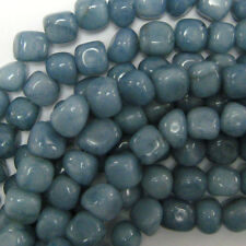 "13-15mm aqua blue jade nugget beads 14"" strand"