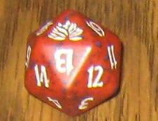 1 Red SPINDOWN Die Black Lotus - 20 sided Spin Down Dice MtG Magic the Gathering