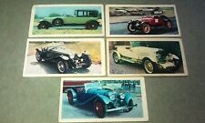 JAGUAR SS100 Rolls Ghost Hispano Suiza Sunbeam Riley MPH  Lyons Maid Trade Cards