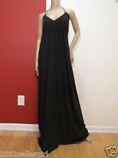 GAP BLACK LONG MAXI PULLOVER HALTER V-NECK SUMMER DRESS SZ XL LONG