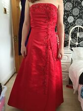 Prom Dress Size 8 ~ Red MayQueen U.S.A.~ BEAUTIFUL With Wrap
