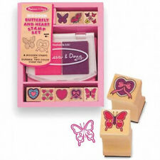 *NEW* Mel & Doug Wooden Butterfly Hearts Stamper Set