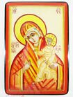 """Russian Lacquer box style Kholui """"Our Lady Of Igorevskaya"""" Hand Painted. №151"""