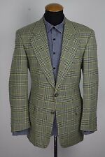 Mens Hugo Boss Blazer size 40R Wool Plaid gr 50 Yellow Gingham Prince of Wales