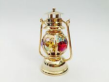 "SWAROVSKI CRYSTAL ELEMENTS ""Lantern"" FIGURINE - ORNAMENT 24KT GOLD PLATED"