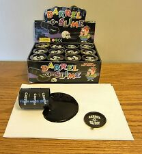 12 NEW BARREL OF SLIME   BARREL-O-SLIME BLACK TAR  BIRTHDAY PARTY FAVOURS PUTTY