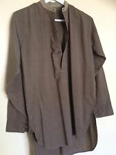 WW2 BRITISH ARMY OFFICER SHIRT Original Collarless OR Battledress Service Dress