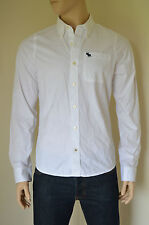 NEW Abercrombie & Fitch Gill Brook White Classic Button Down Shirt XXL