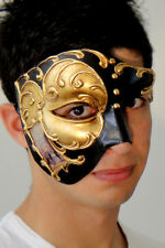 Masquerade Mask ITALIAN Made Phantom Venetian Gold OVERNIGHT Metro Del