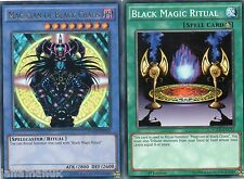 Magician of Black Chaos - YGLD-ENC01 - Ultra Rare + Black Magic Ritual - YGLD